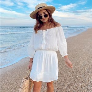 Lulus Zappa White Off the Shoulder Dress